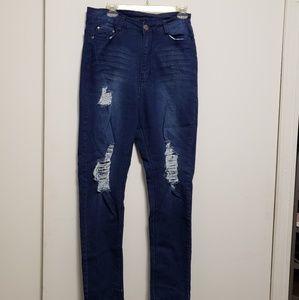 Fashionnova Plus Distressed Jeans